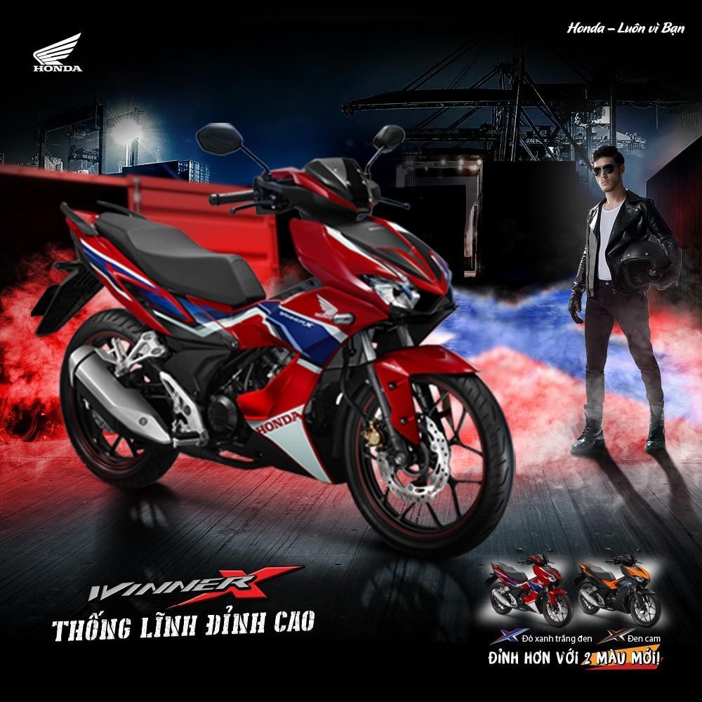 Honda Việt Nam bổ sung tem màu và phiên bản màu mới đậm chất thể thao cho siêu phẩm WINNER X