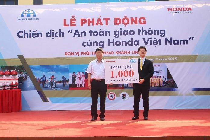 """Bùng nổ các hoạt động trong """"Chiến dịch An toàn giao thông cùng Honda Việt Nam"""" tại tỉnh Vĩnh Phúc lần thứ 5"""