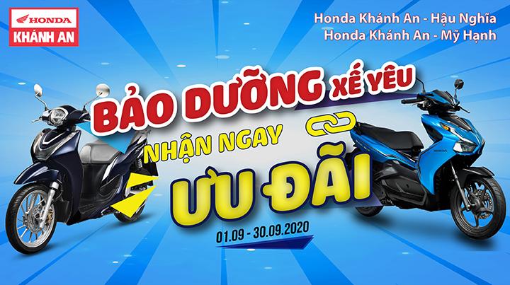 Chương trình Bảo Dưỡng Xế Yêu – Nhận Ngay Ưu Đãi tại Honda Khánh An – Hậu Nghĩa