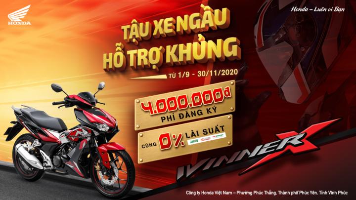 """Honda Việt Nam triển khai chương trình ưu đãi hấp dẫn nhất năm cho khách hàng mua xe WINNER X – """"Tậu Xe Ngầu – Hỗ Trợ Khủng"""""""