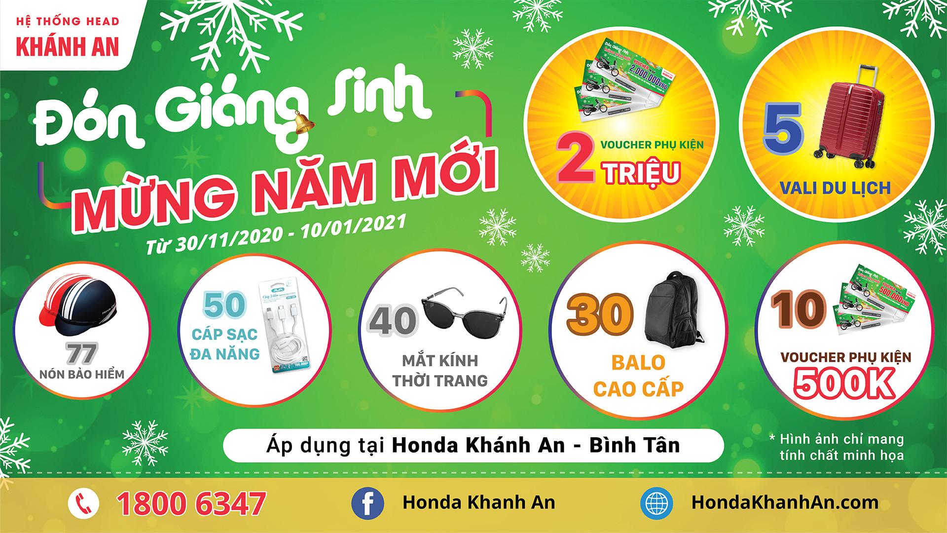 """Chương trình """"ĐÓN GIÁNG SINH – MỪNG NĂM MỚI"""" tại Honda Khánh An – Bình Tân"""
